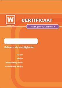 ERK - Tijd en Getallen - Klokkijken - Certificaat