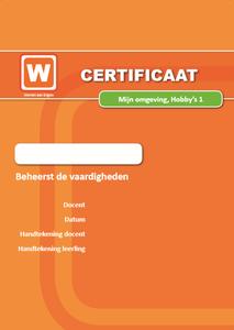 ERK - Mijn Omgeving - Hobby's - Certificaat