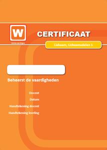ERK - Lichaam - Lichaamsdelen - Certificaat